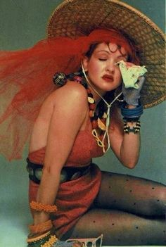 cindi lauper - a pinup girl if ever there was one