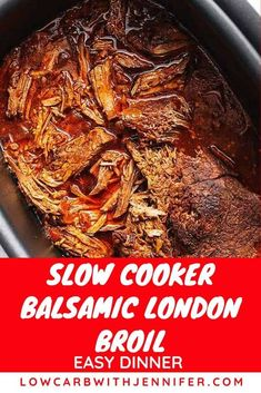 Crockpot London Broil is a melt-in-your-mouth roast, seared to tasty perfection.c… (With images) Low Carb Slow Cooker, Crock Pot Slow Cooker, Crock Pot Cooking, Slow Cooker Recipes, Crockpot Recipes, London Broil Slow Cooker, Cooking London Broil, London Broil Recipes, Cube Steak Recipes