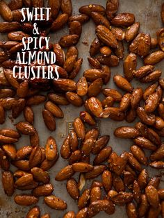 Sweet and Spicy Almond Clusters (spoon fork bacon) Nut Recipes, Other Recipes, Crepes, Spicy Almonds, Spoon Fork Bacon, Thanksgiving Desserts, Sweet And Spicy, Healthy Snacks, Savory Snacks
