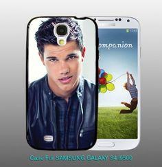 Taylor Lautner Cool Pose Twilight  , For Samsung S4 i9500 Black Case