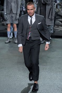 Thom Browne - Fall 2014 Menswear - Style.com / The man himself. Talent out the ears, but wants to do things other art designers do better.