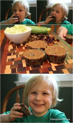 Delicious and moist zucchini muffins with raisins and cinnamon! A grain-free, gluten-free treat!