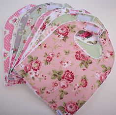 """The bibs measure: 12"""" by 9 1/2""""  It features nice soft white chenille on the back."""