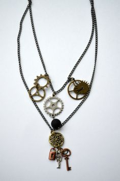 Steampunk Dream Necklace by SpearCraft on Etsy, $10.00