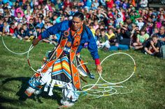 Hoop Dancer at the 43rd Annual United Tribes Technical College International Powwow