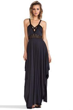 0148aadbaff Free People Bonitas Back Maxi Dress en Negro