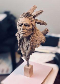 CHATO APACHE Warrior DARK BRONZE Figurine AMERICAN INDIAN Kinder Metal Soldier