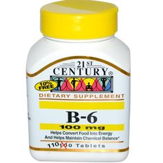 21st Century Health Care B6 100 mg 110 Tablets Pack of 2 -- To view further for this item, visit the affiliate link Amazon.com.