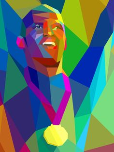 Colorful Geometric Illustrations of London 2012 Olympics by Charis Tsevis Art And Illustration, Vector Illustrations, Art Pop, In Vino Veritas, Sports Art, Fox Sports, Cubism, Art Lessons, Olympics