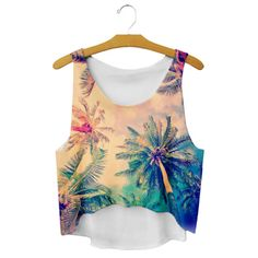 Sexy-Tops-Womens-Emoji-Crop-Print-Sleeveless-T-Shirt-Tank-Cami-Blouse-Shirts