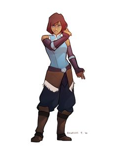 "Fan art of Avatar Korra from the Nickelodeon animated series ""The Legend of Korra"" Avatar Aang, Avatar Airbender, Team Avatar, Der Alchemist, Character Art, Character Design, Character Sketches, Character Inspiration, Avatar World"