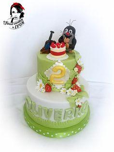 Mole (Krteček) - Cake by Ivon Baby Girl Cakes, Cakes For Men, Sugar Baby, Baby Design, Mole, No Bake Cake, Daily Inspiration, Amazing Cakes, Cake Ideas