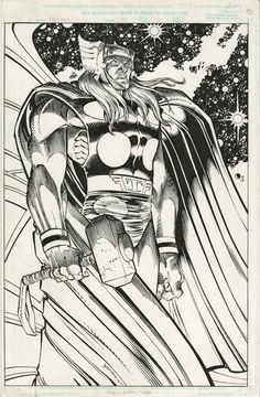 Thor by John Romita Jr Marvel Art, Comic Book Characters, Black And White Comics, John Romita Jr, Comic Book Artists, Big Art, Romita, Jr Art