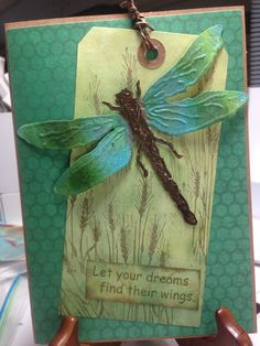 Tim Holtz dragonfly,  Embossed.
