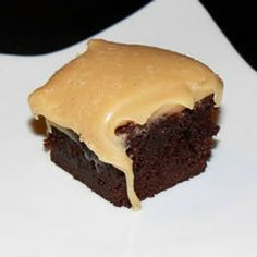 Brownies with Peanut Butter Fudge Frosting Recipe | Yummly