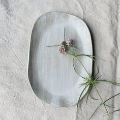 Serving Platter Serving Tray Satin White by TagliaferroCeramics