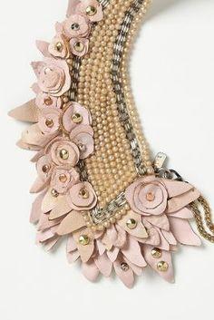 Blushing Pearl Bib Necklace