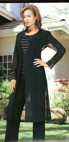 Misty Lane Style 13197. 3 Piece georgette pant suit by Misty Lane with satin detail on the jacket and camisole. Great special occasion pant suit. #fitritefashions #motherofthebride #pantsuit #womensclothing