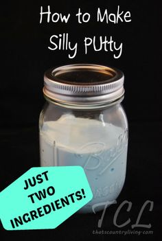 How to Make SILLY PUTTY with 2 INGREDIENTS