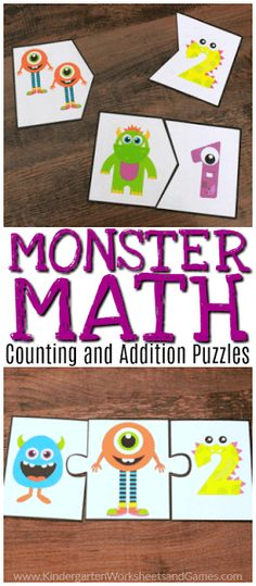Free Monster Math Puzzles