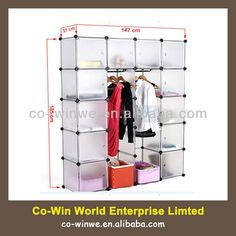 DIY Plastic Wardrobe Closet Storage Organizer Hanger Clothes Rack Shoe Standing Portable $30~$33