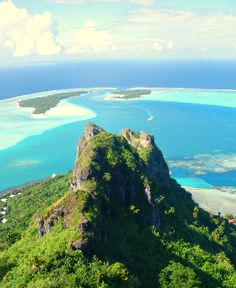 """Maupiti is the smallest and most isolated island of what they call the """"Leeward Group"""" of the Society Islands. Nevertheless, it looks quite gorgeous, doesn't it?"""