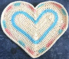 Best Free Crochet » #244 Soul Heart Crochet Dishcloth – Maggie Weldon Maggies Crochet