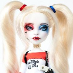 "My Harley Quinn repaint. At the moment she is not available for sale just yet. A lot of time and effort went into this repaint. I tried my best to include as much detail as possible. I also have a 17"" Harley that will be ready shortly. ... #artdoll #colourtothebone #customdoll #customrepaint #customooak #custommonsterhigh #create #doll #dollooak #etsy #etsyshop #etsyseller #ghouls #inspiration #kindmonsters #mh #monsterhigh #monsterhighrepaint #monsterhighcustom #monsterhighooak #ooakdoll…"