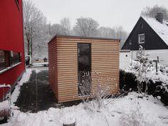 Gartenhaus mit dem Flachdach