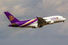 https://flic.kr/p/w9YDV2 | Airbus A380-841 Thai Airways HS-TUD (CDG)
