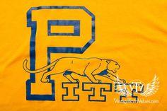 Pitt Panthers Pittsburgh University T-shirt, Vintage 80s