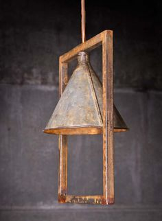 Gus - Funnel Framed Hanging Lamp - *Rustoration Lighting is only sold at our Nashville shop and not online. They are one-of-a-kind.