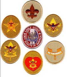 Boy Scout badges.