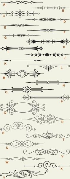 Letterhead Fonts / LHF Engraver's Ornaments 1 / Old Fashioned Scrolls by jason.meadows.311