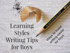 Get Boys Writing! Learning Styles Writing Tips for Boys - Brain Power Boy Writing Resources, Writing Skills, Writing Activities, Writing Tips, Stem Activities, Learning To Write, Learning Tools, Learning Resources, Fun Learning