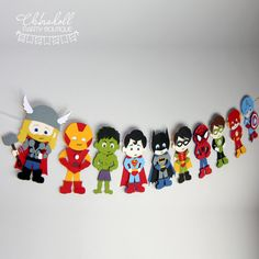 superhero party bunting 10 characters inspired por chinadollparty
