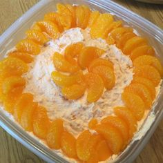 Orange Fluff I Recipe - Orange flavored gelatin is stirred into whipped topping and then folded into a bowl of cottage cheese, crushed pineapple and mandarin oranges. Even better when chilled for an hour. Jello Recipes, Pasta Salad Recipes, Dessert Recipes, Yummy Recipes, Gelatin Recipes, Cake Recipes, Super Healthy Recipes, Healthy Foods To Eat, Oreo