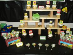 Angry Birds Cupcake Stand and goodies