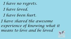 No Regrets The Journey Book, Love Deeply, Regrets, It Hurts, Passion, Books, Libros, Book, Book Illustrations