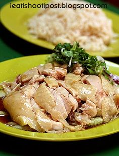 The famous Tian Tian Hainanese Chicken Rice -- Maxwell Food Centre, Stall 10 (closed on Mondays)   Photo by Dr. Leslie Tay