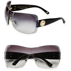 Versace Rimless Shield Sunglasses