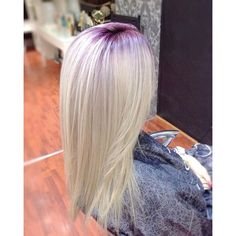 Image result for blonde hair with red roots
