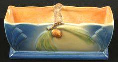 Vintage+Roseville+Pottery+Pine+Cone+Blue+Planter+by+greencreekfarm,+$45.00