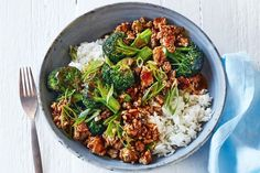 Curtis Stone's crispy pork stir-fry with baby broccoli