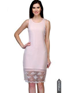Lace Hem Pink Sleeveless Knee Length Dress By Bumpkin