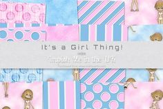 It s a Girl Thing on Craftsuprint #cardmaking #scrapbooking #papercrafts #digiscrap