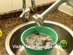 Como se Hace la Pasta de Papel Casera para Hacer Juguetes