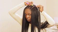 VERY DETAILED Straight Crochet Braids Tutorial ft. Italian Perm Yaki Hair from Sam's Beauty - YouTube