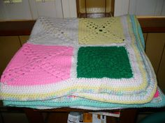 Afghan  Granny Squares  41 x 41  Many Colors by pittsburgh4pillows