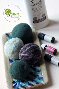 Palle di lana infeltrite per l'asciugatrice